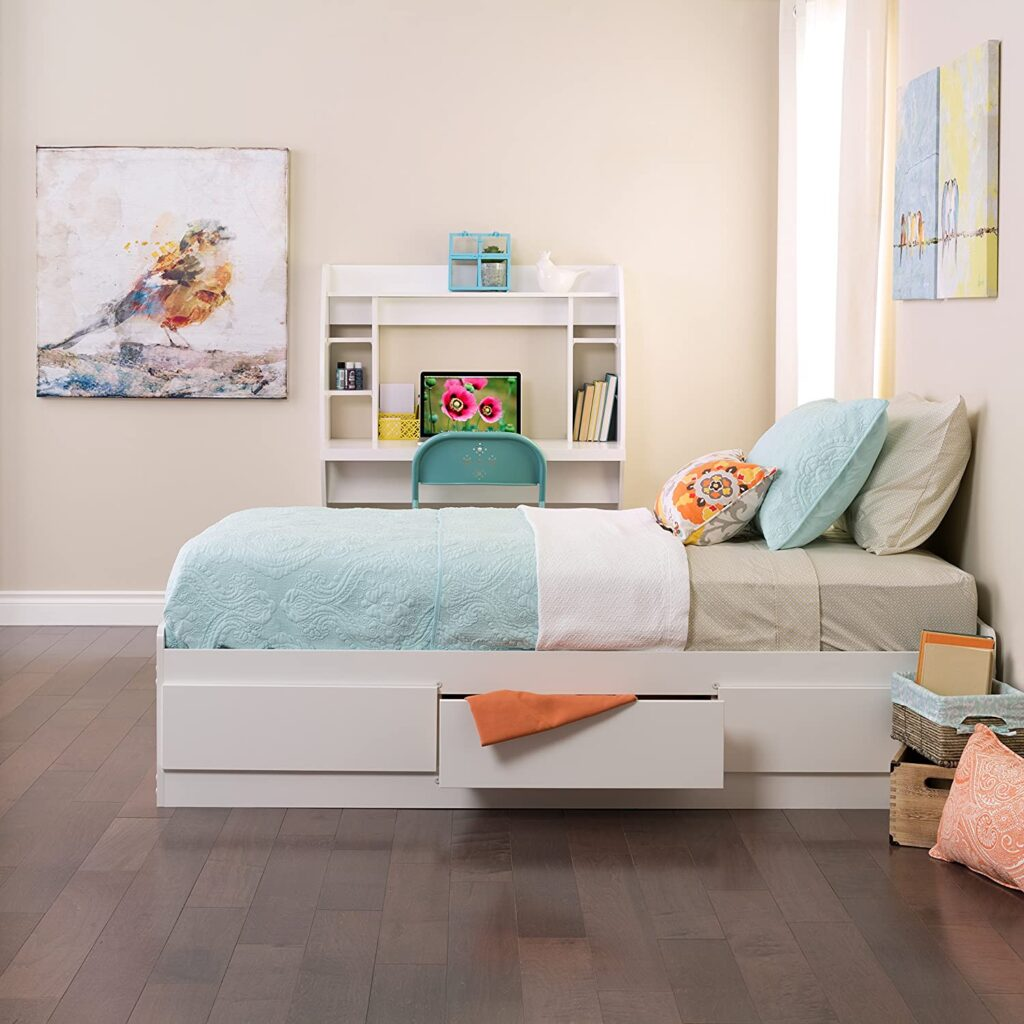 twin bed with storage