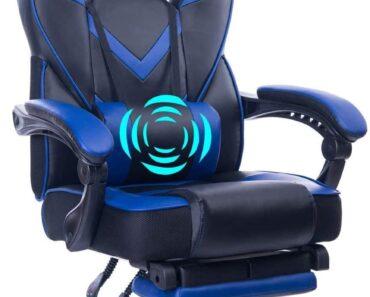 HEALGEN Gaming Chair with Footrest